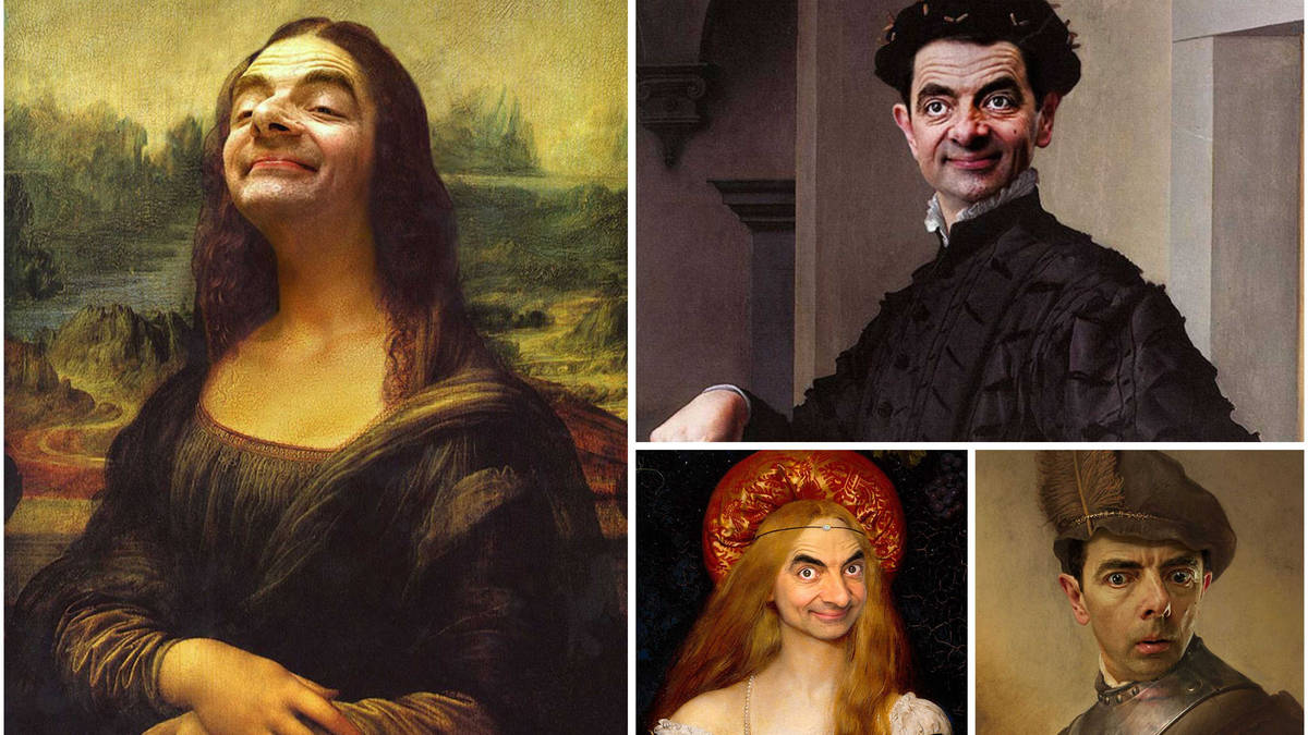 A caricature artist has inserted Mr Bean's face into great paintings and it's just wonderful