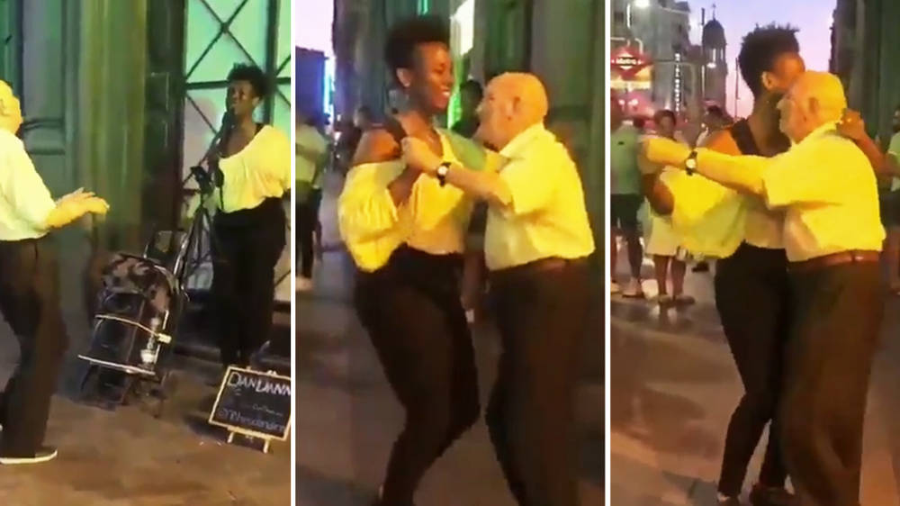 This adorable video of an old man and a jazz singer dancing together has gone viral
