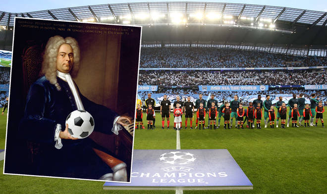 The Champions League Trophy and the Choir of Westminster Abbey