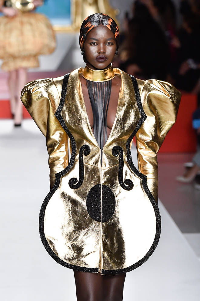 Adut Akech at the Moschino show