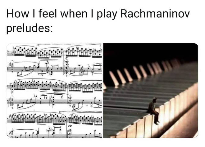 Playing Rachmaninov preludes