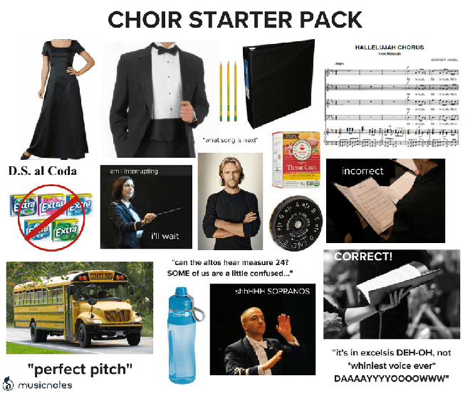 Choir starter pack