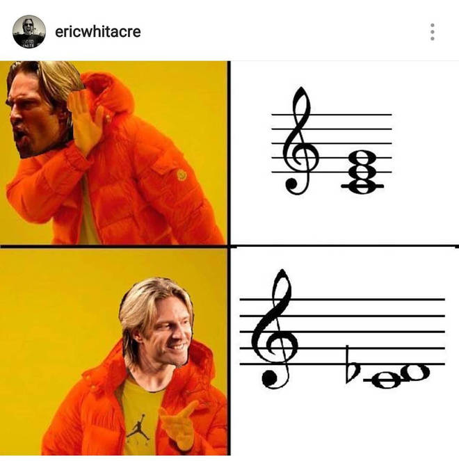 Eric Whitacre chord clusters