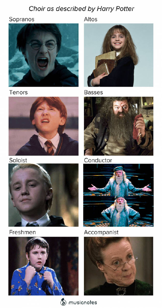 Choir as described by Harry Potter