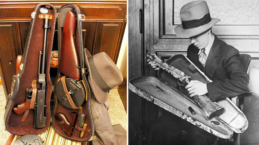 Films tell us gangsters used violin cases to carry guns. But what's the history?