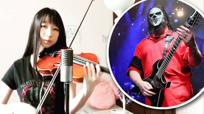 M Drako performs violin cover of Slipknot's 'Unsainted'