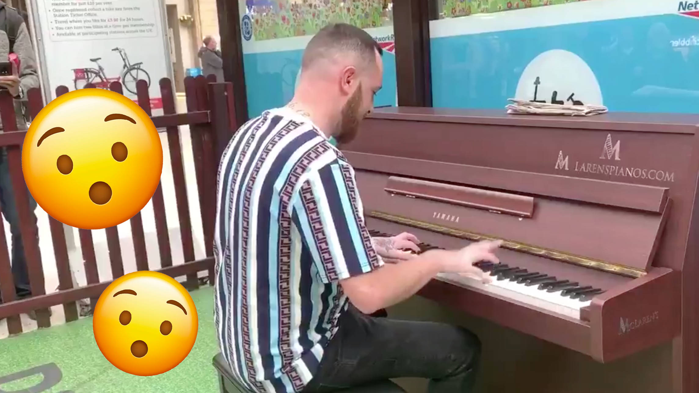 Talented guy plays GBX anthem on piano at Glasgow Central
