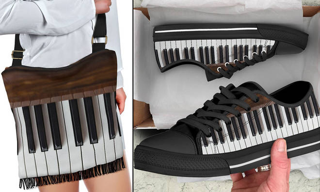 Piano bag and trainers