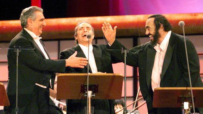 The three tenors (l-r Plácido Domingo, José Carreras and Luciano Pavarotti)