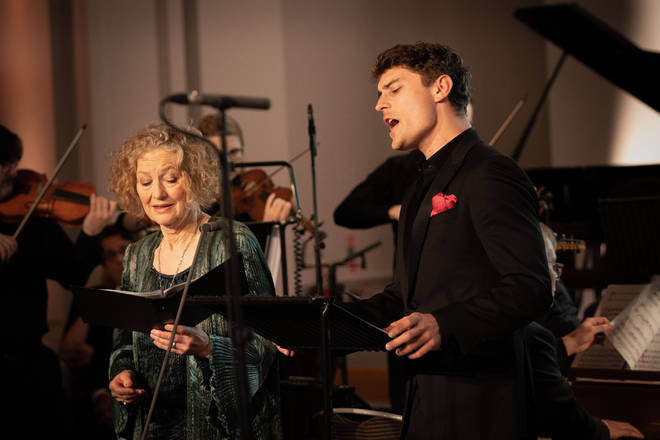 Soprano Dame Emma Kirkby and countertenor Jakub Józef Orliński perform at the Gramophone Awards 2019