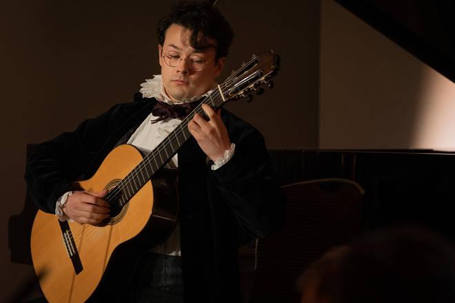 Award-winner Sean Shibe performs at the Gramophone Awards 2019