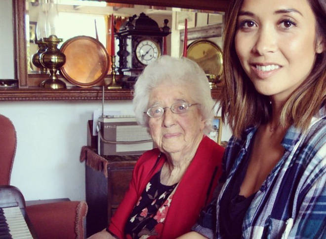 Myleene Klass and her piano teacher Miss Dorothy 'Babs' Wright