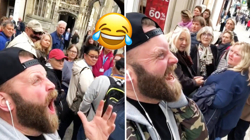 Comedian yells out opera arias while wearing headphones, freaks everyone out