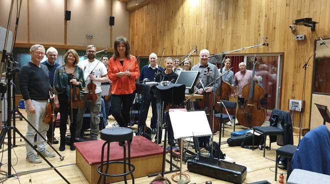Classic FM's Composer in Residence, Debbie Wiseman, records 'Ein Bisschen Fehlt' with National Symphony Orchestra at Angel Studios 2019