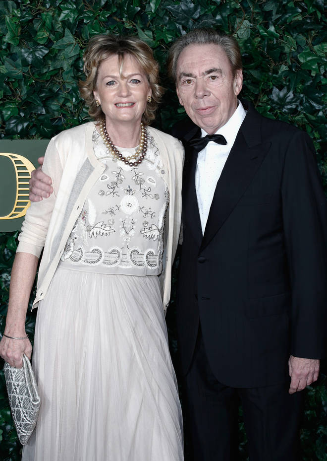 Andrew Lloyd Webber and Madeleine Gurdon at The Old Vic Theatre on November 13, 2016