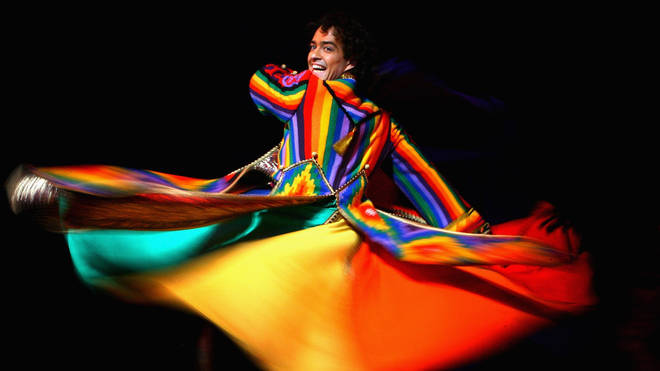 Lee Mead in Joseph And The Amazing Technicolor Dreamcoat, at the Adelphi Theatre