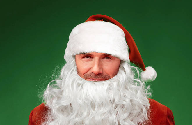 For your chance to win, tell us the name of the celebrity that's hiding under the Santa costume