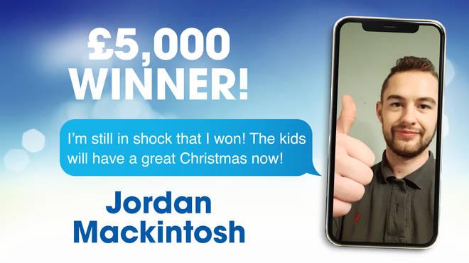 Congratulations to recent competition winner, Jordan!