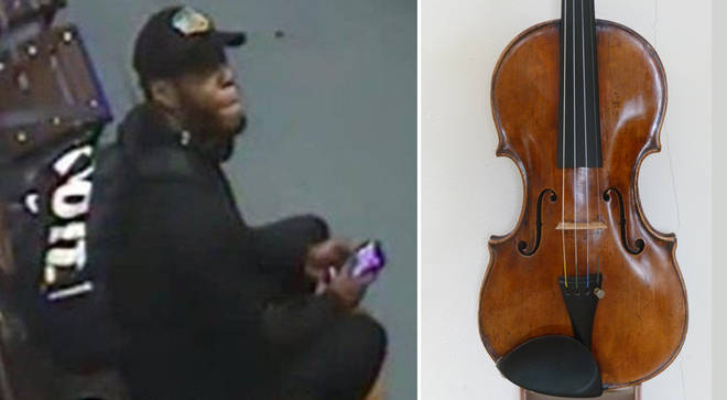 Police release CCTV image of suspect linked to violin theft