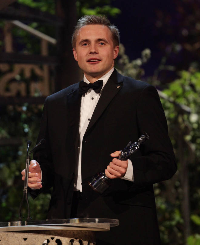 Vasily Petrenko with his Male Artist of the Year Award, at the Classical Brit Awards