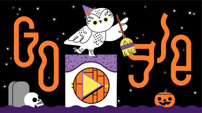 Google Doodle celebrates Halloween