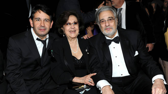 Plácido Domingo Jr, Marta Domingo and Plácido Domingo at the Latin Grammy Awards in 2010