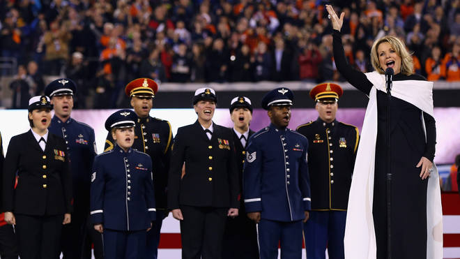 Renée Fleming singing The Star-Spangled Banner at the 2014 Super Bowl