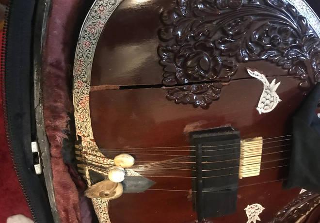 Shubhendra Rao's damaged sitar