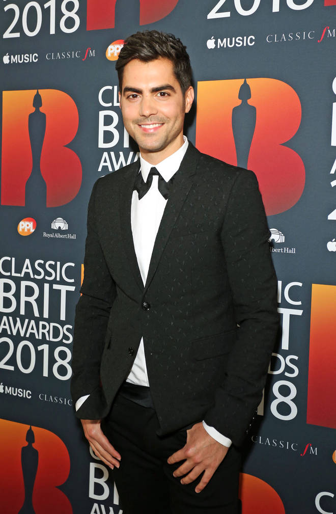 Milos on the Classic Brits red carpet