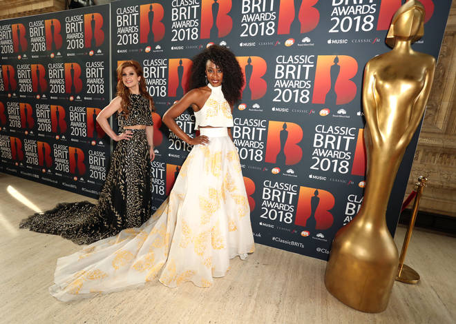 Cassidy Janson (left) and Beverley Knight arrive at the Classic Brit Awards 2018