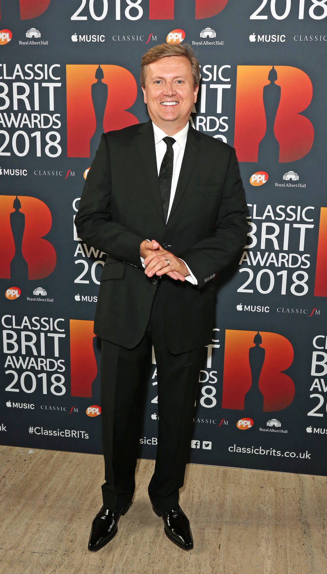 Aled Jones arrives at the Classic Brit Awards 2018, at the Royal Albert Hall in London.