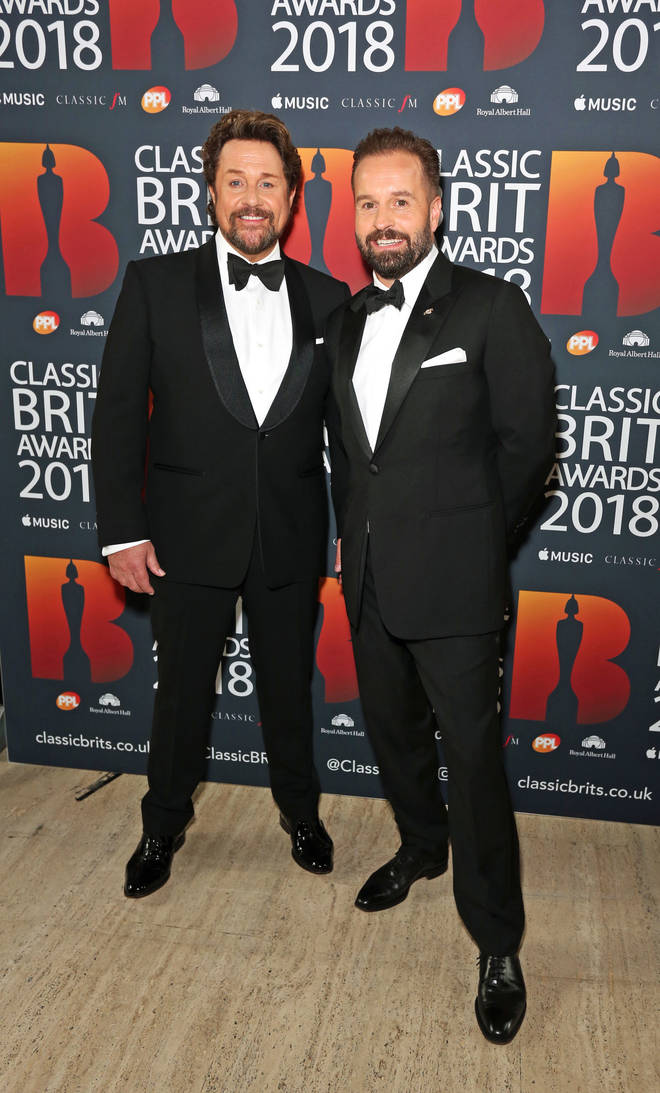 Michael Ball and Alfie Boe arrive at the Classic Brit Awards 2018