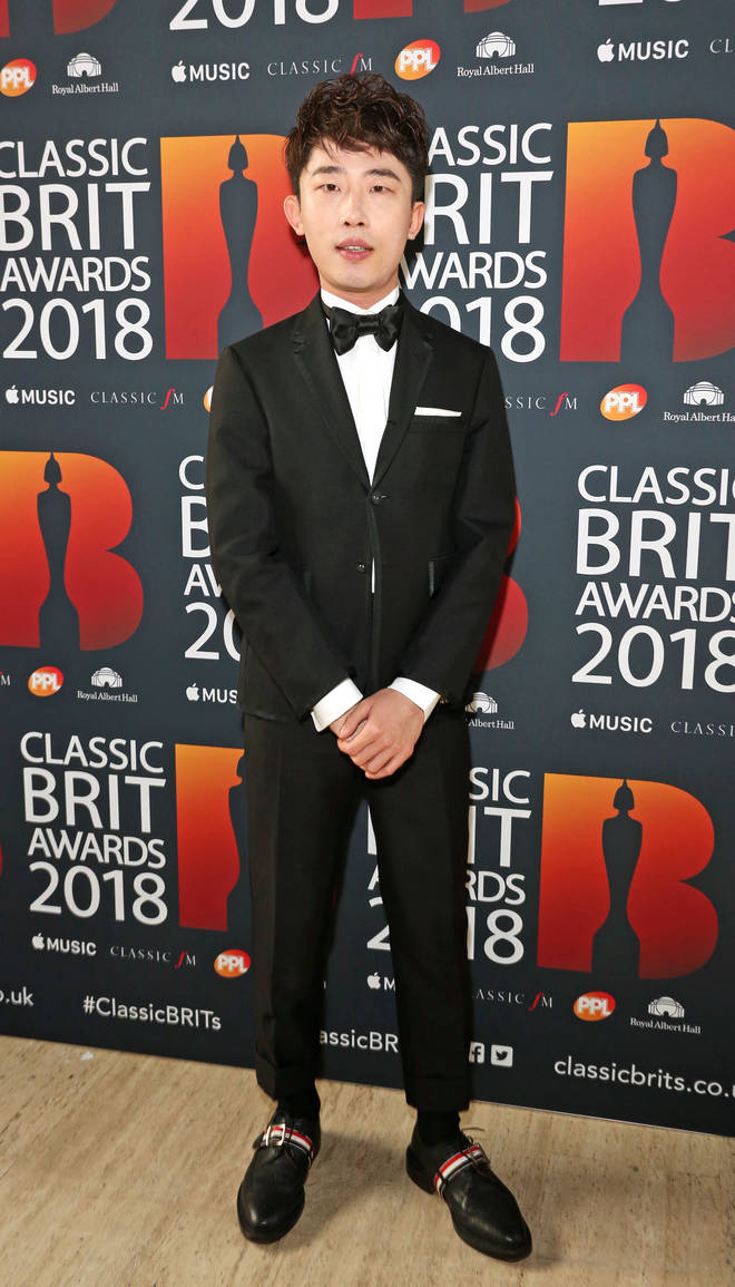 Ji Liu arrives at the Classic Brit Awards 2018