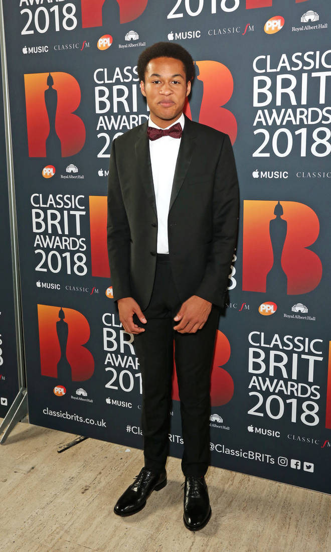 Sheku Kanneh-Mason arrives at the Classic Brit Awards 2018