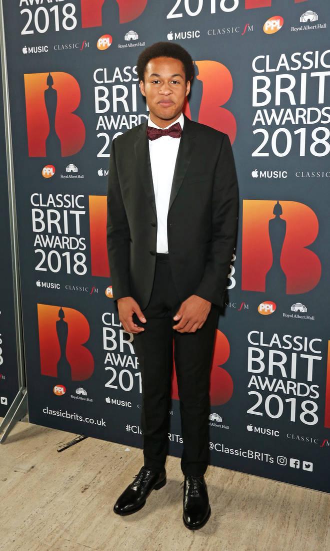 Sheku Kanneh-Mason arrives at the Classic Brit Awards 2018