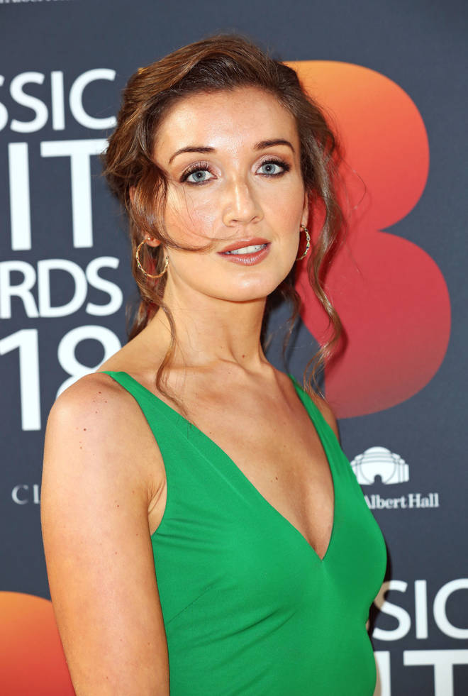 Carly Paoli arrives at the Classic Brit Awards 2018