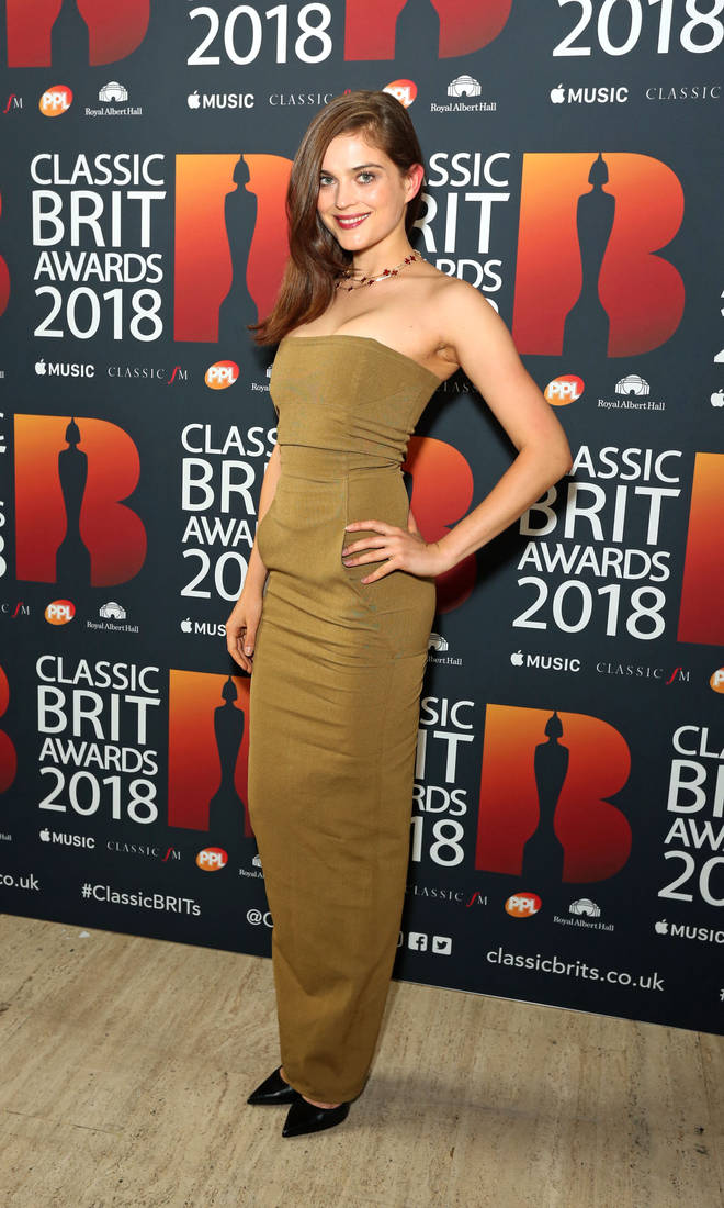 Lena Melcher arrives at the Classic Brit Awards 2018