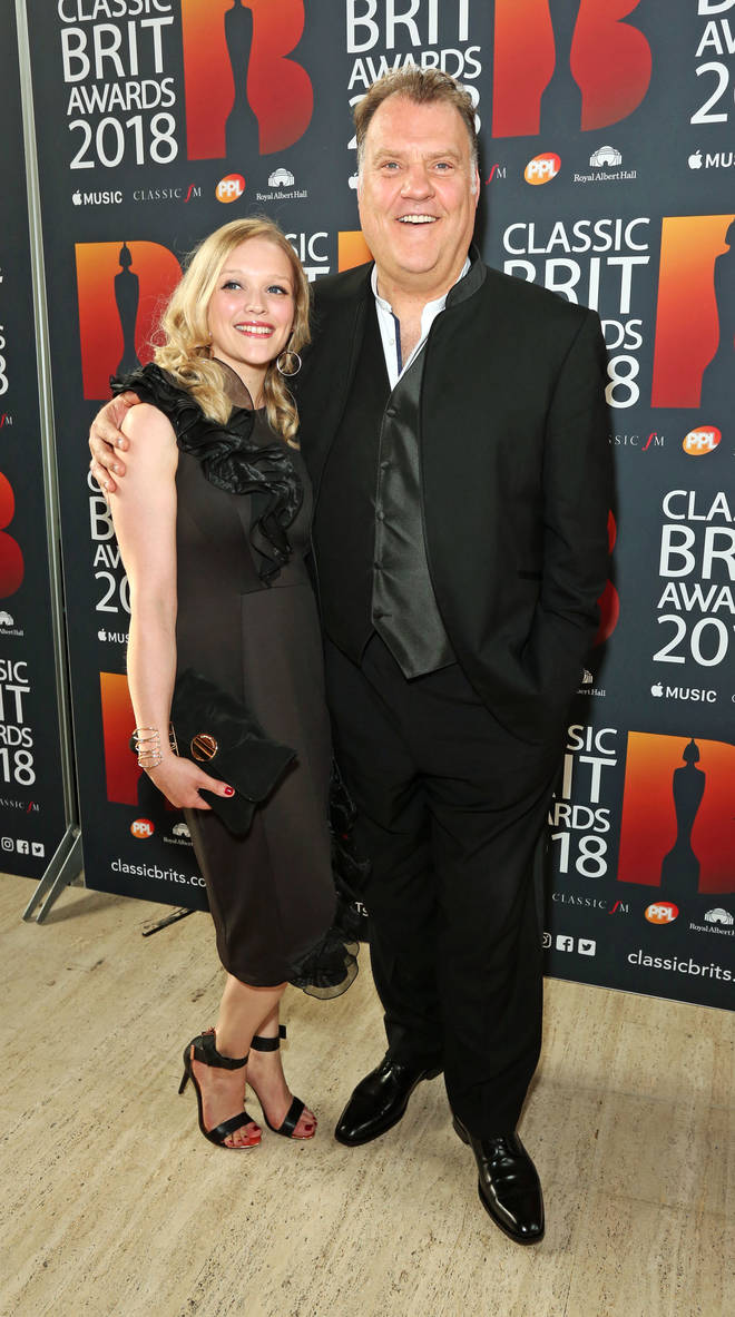 Sir Bryn Terfel and Hannah Stone arrive at the Classic Brit Awards 2018