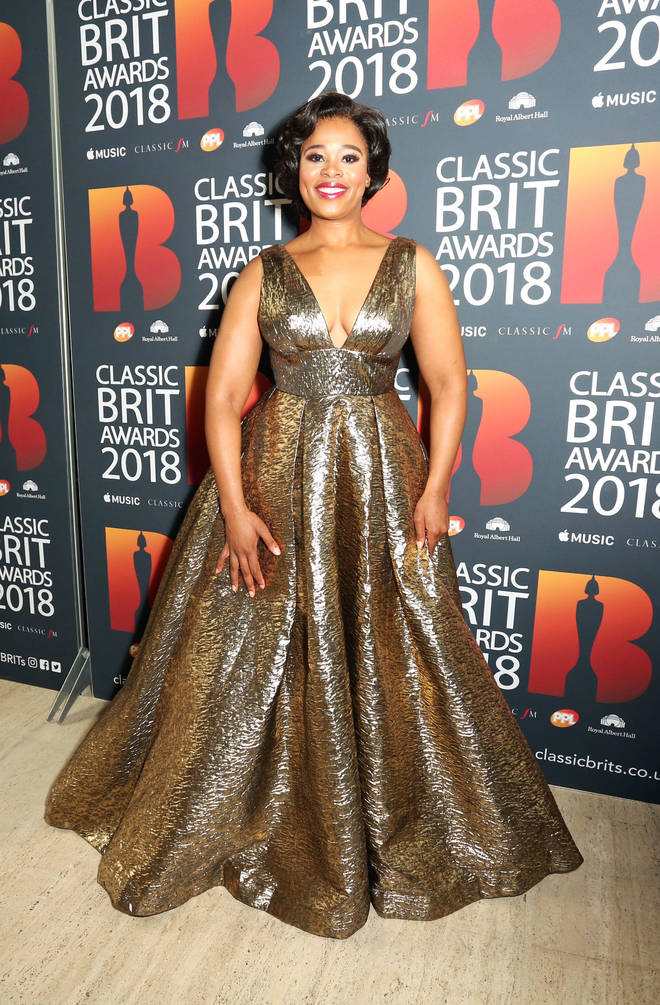 Pretty Yende arrives at the Classic Brit Awards 2018