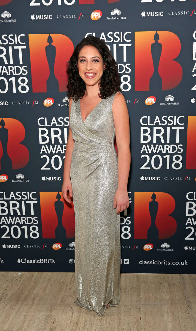 Beatrice Rana arrives at the Classic Brit Awards 2018
