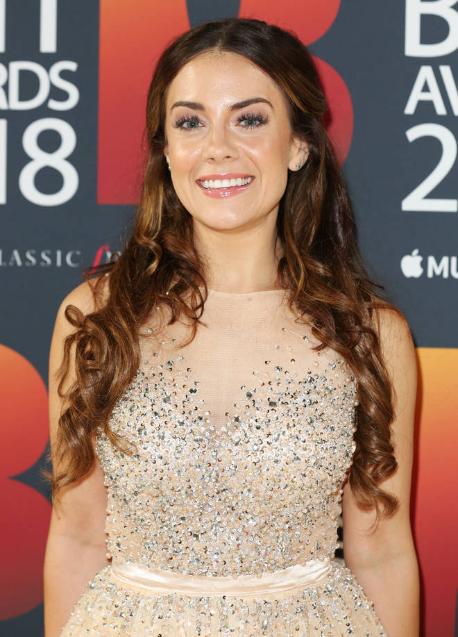 Meghan Picerno arrives at the Classic Brit Awards 2018