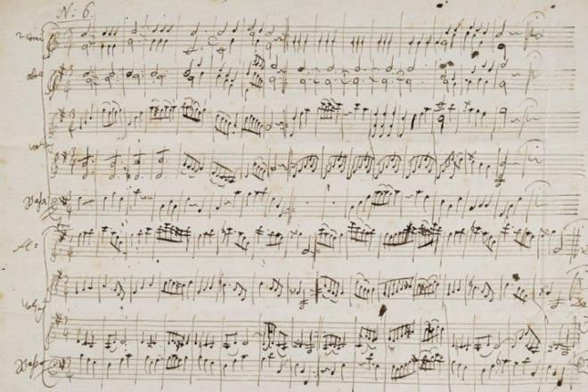 Early Mozart manuscript