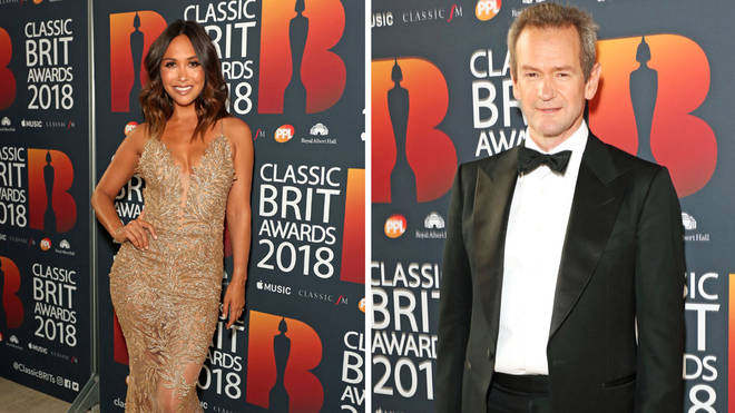 Myleene Klass and Alexander Armstrong at the Classic BRITs
