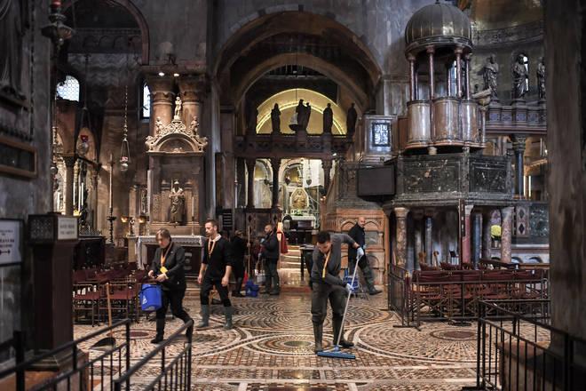 St. Mark's Basilica flooding