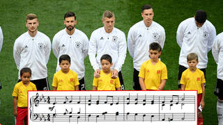 Germany sings the national anthem at 2018 FIFA World Cup