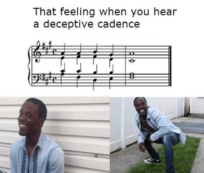 Deceptive Cadences meme