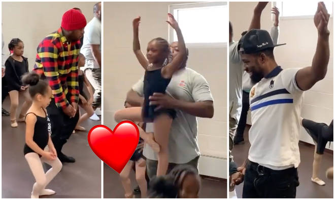 Dads and their daughters in the Philadelphia ballet class
