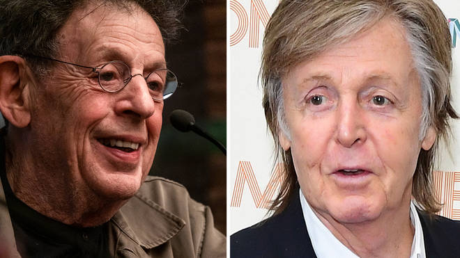 Paul McCartney confirms Glastonbury headline slot with cryptic photo of composer Philip Glass