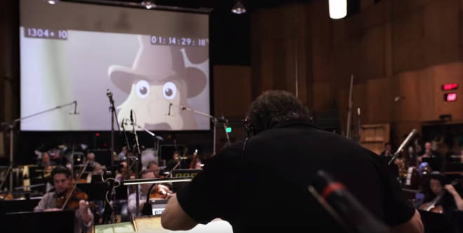 Composer David Newman conducts the orchestral score for Netflix's Green Eggs and Ham