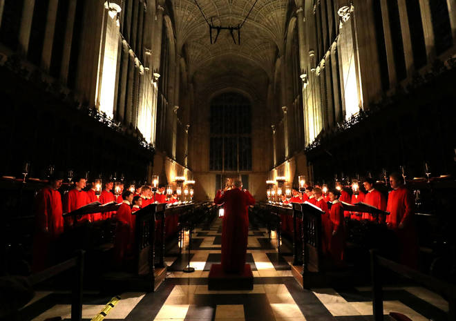 The Choir of King's College, Cambridge.